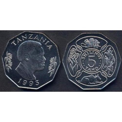 TANZANIA 5 Shilingi 1993...