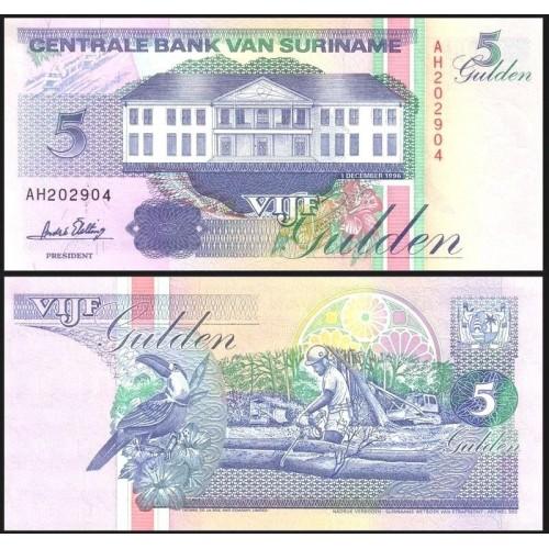 SURINAME 5 Gulden 1996