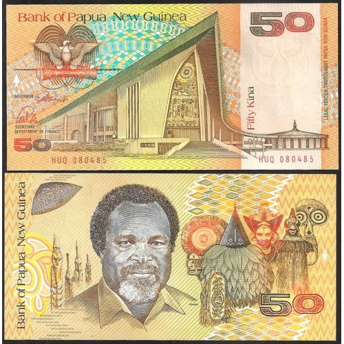 PAPUA NEW GUINEA 50 Kina 1989