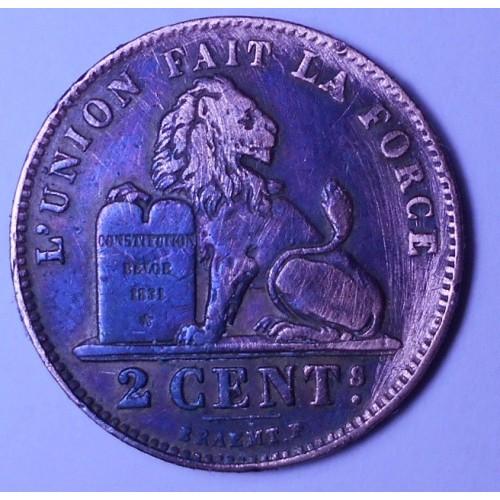 BELGIUM 2 Centimes 1909 Des...