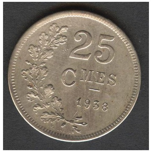 LUXEMBOURG 25 Centimes 1938