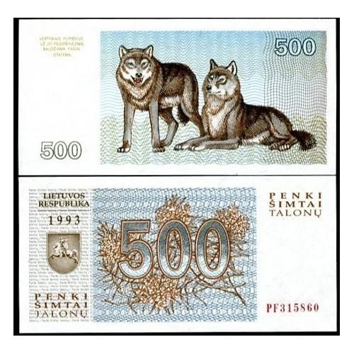 LITHUANIA 500 Talonu 1993
