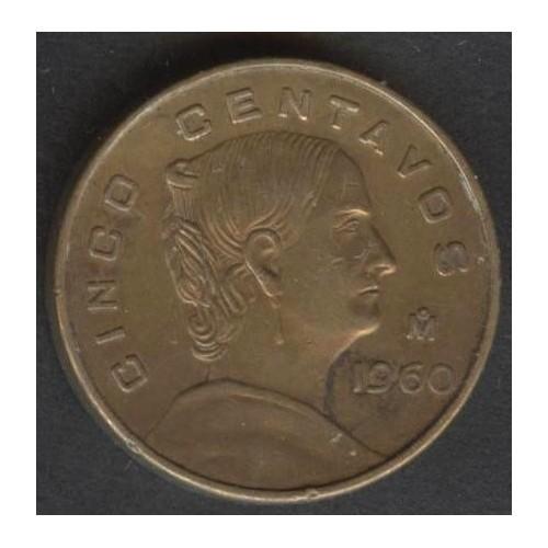MEXICO 5 Centavos 1960