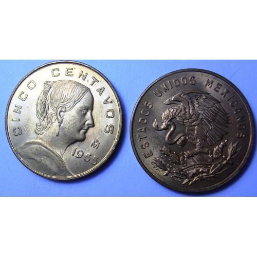 MEXICO 5 Centavos 1965