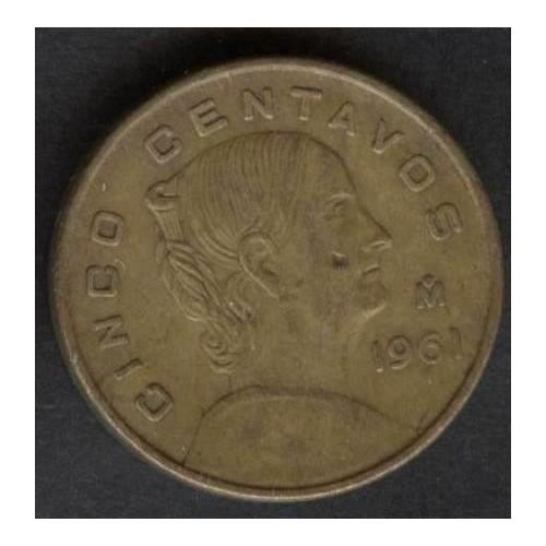 MEXICO 5 Centavos 1961