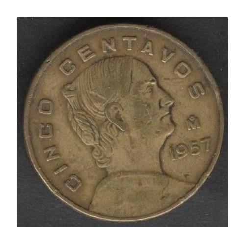 MEXICO 5 Centavos 1957