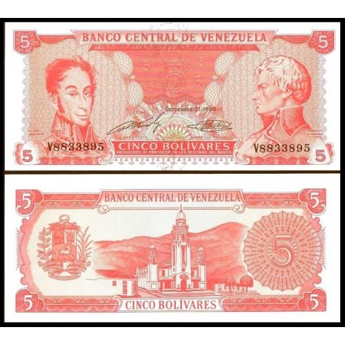 VENEZUELA 5 Bolivares 1989