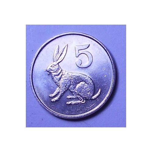 ZIMBABWE 5 Cents 1980