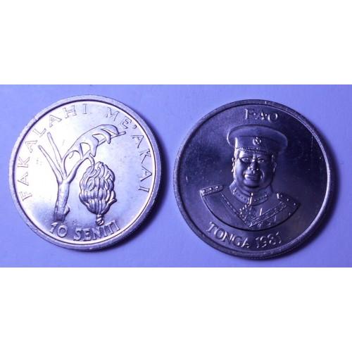 TONGA 10 Seniti 1981 FAO