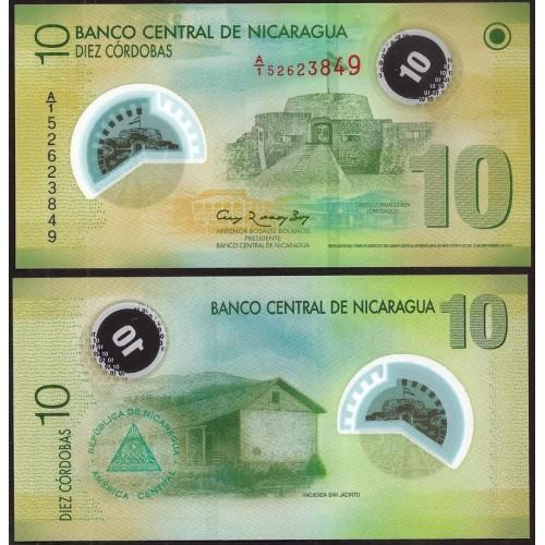 NICARAGUA 10 Cordobas 2007...