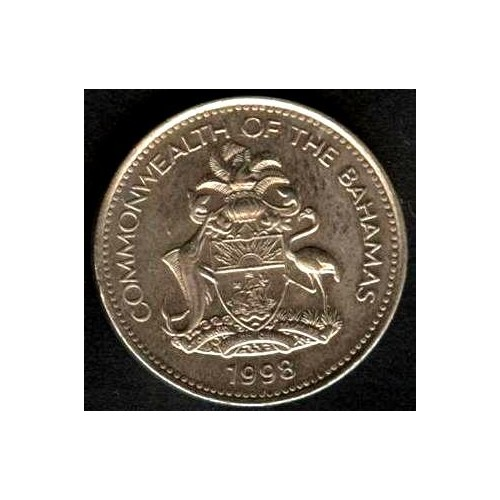 BAHAMAS 5 Cents 1998