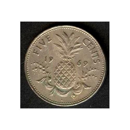 BAHAMAS 5 Cents 1969
