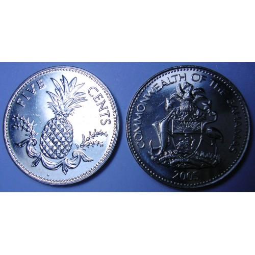 BAHAMAS 5 Cents 2005