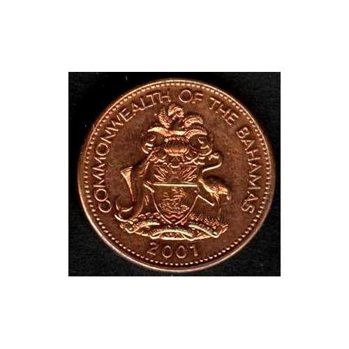 BAHAMAS 1 Cent 2001