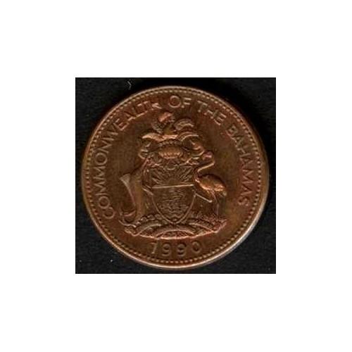 BAHAMAS 1 Cent 1990