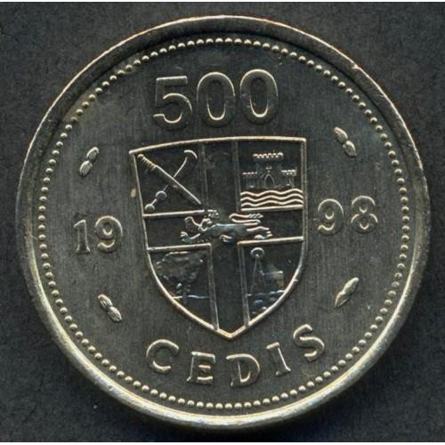 GHANA 500 Cedis 1998
