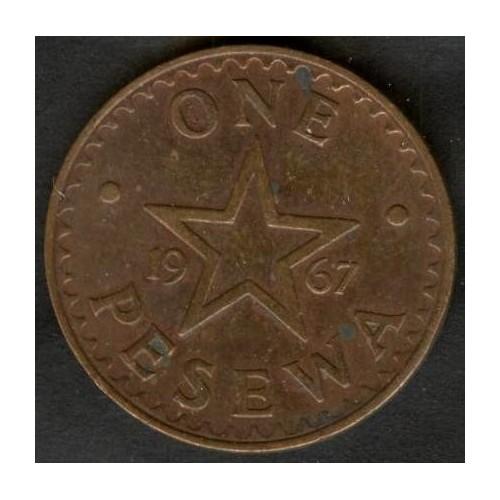 GHANA 1 Pesewa 1967