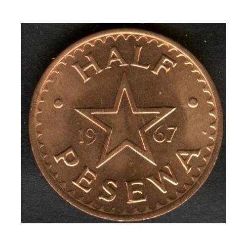 GHANA 1/2 Pesewas 1967