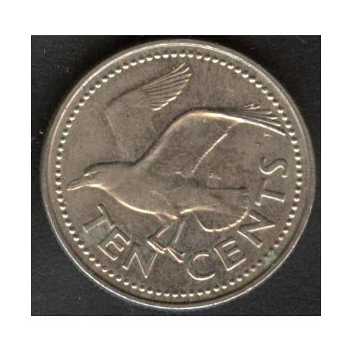 BARBADOS 10 Cents 1992