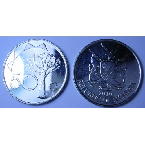 NAMIBIA 50 Cents 2010