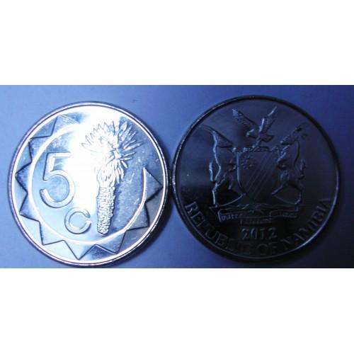 NAMIBIA 5 Cents 2012