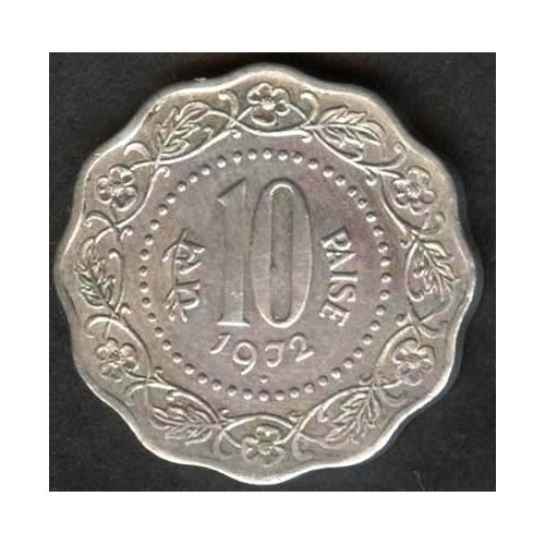 INDIA 10 Paise 1972 B