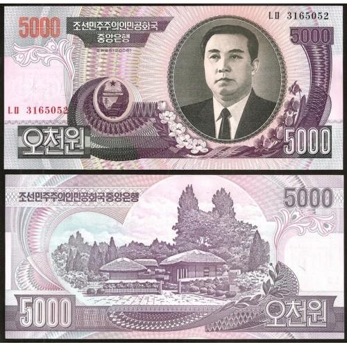 NORTH KOREA 5000 Won 2006