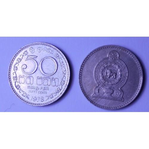 SRI LANKA 50 Cents 1978