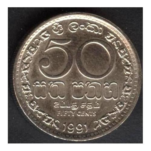 SRI LANKA 50 Cents 1991