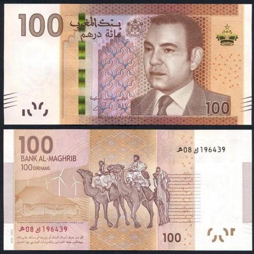 MOROCCO 100 Dirhams 2012...