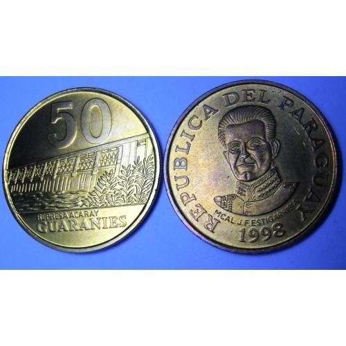 PARAGUAY 50 Guaranies 1998...