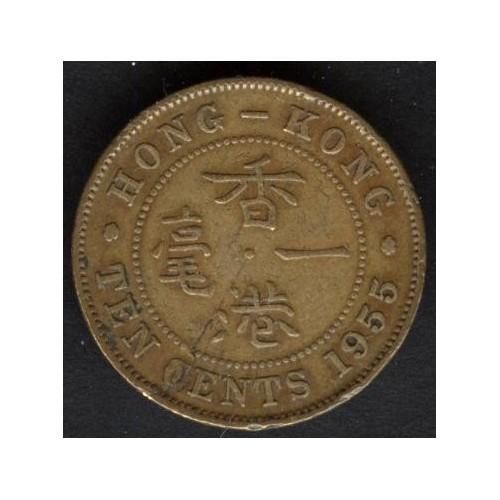 HONG KONG 10 Cents 1955
