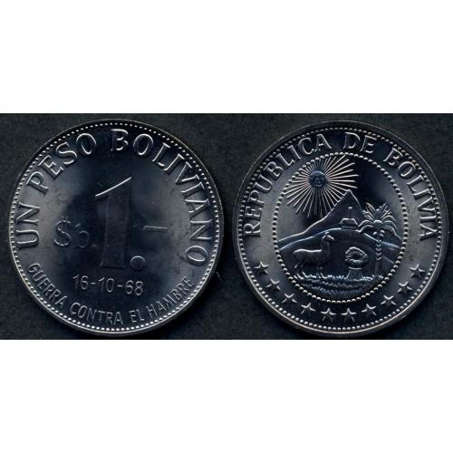 BOLIVIA 1 Peso Boliviano...