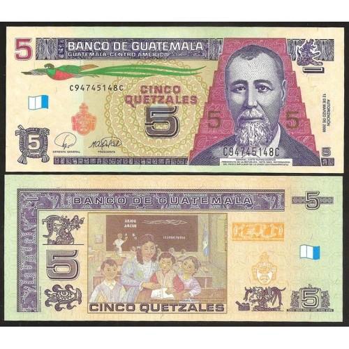GUATEMALA 5 Quetzales 2008