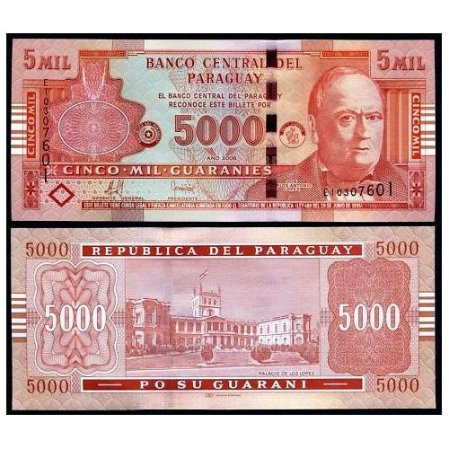 PARAGUAY 5000 Guaranies 2008