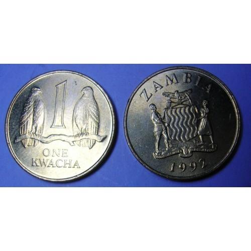 ZAMBIA 1 Kwacha 1992