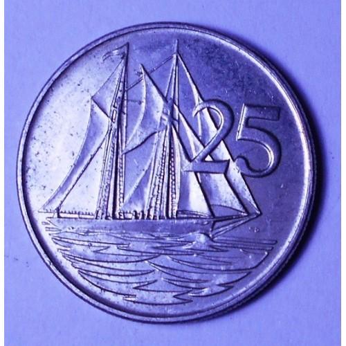 CAYMAN ISLANDS 25 Cents 1992