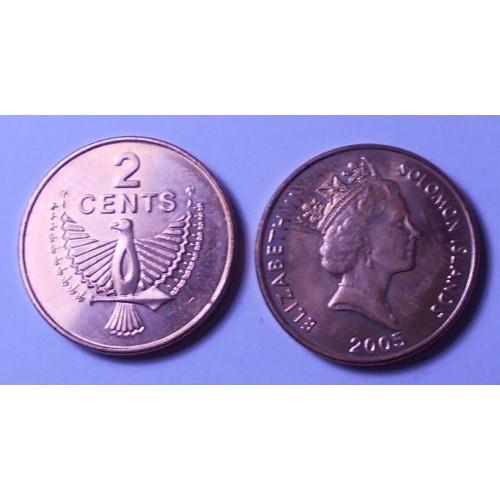 SOLOMON ISLANDS 2 Cents 2005
