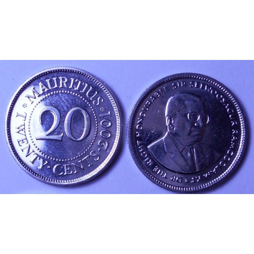MAURITIUS 20 Cents 2001