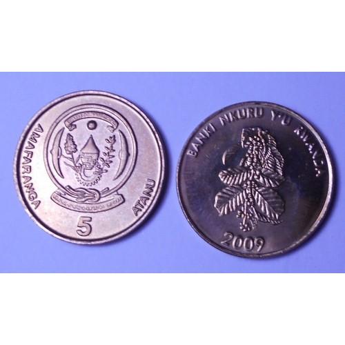 RWANDA 5 Francs 2009