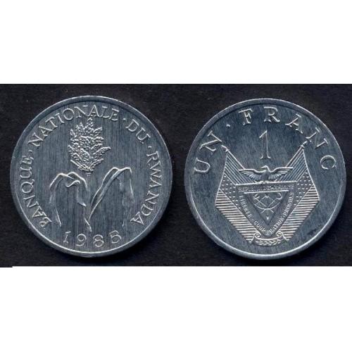 RWANDA 1 Franc 1985