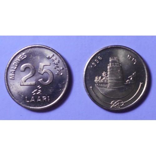 MALDIVE 25 Laari 1996