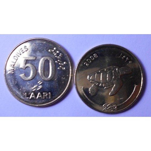 MALDIVE 50 Laari 2008