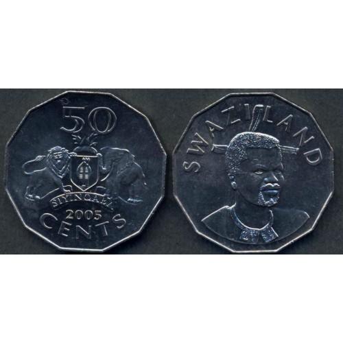 SWAZILAND 50 Cents 2005