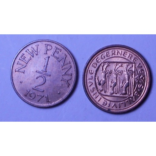 GUERNSEY 1/2 New Penny 1971