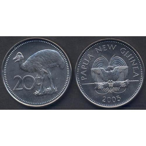 PAPUA NEW GUINEA 20 Toea 2005