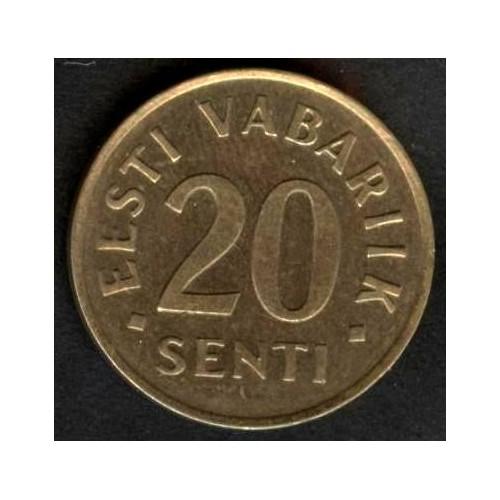 ESTONIA 20 SENTI 1996