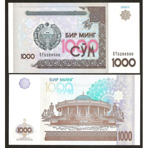 UZBEKISTAN 1000 Sum 2001