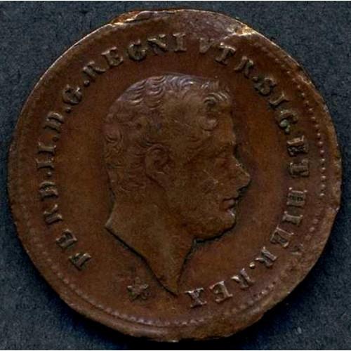 FERDINANDO II 1 TORNESE 1859