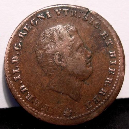 FERDINANDO II 1 TORNESE 1854